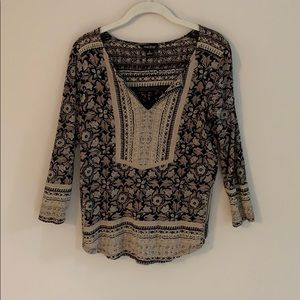 Lucky Brand boho peasant top.